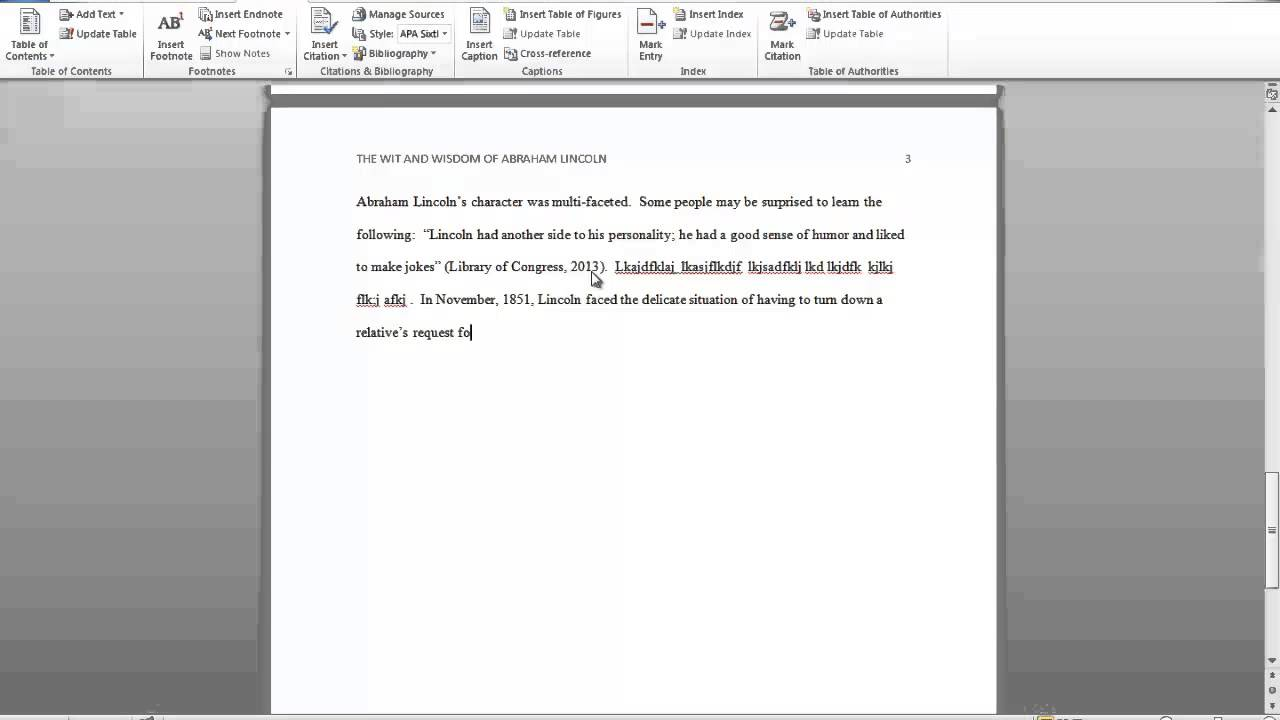 how to create apa citations in word