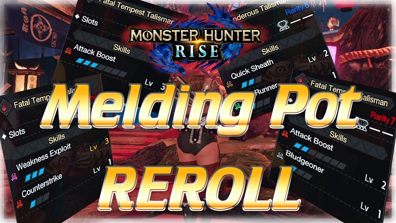 MHRise | How to REROLL Melds - Get God Charms FAST | Monster Hunter Rise Guide モンハンライズ