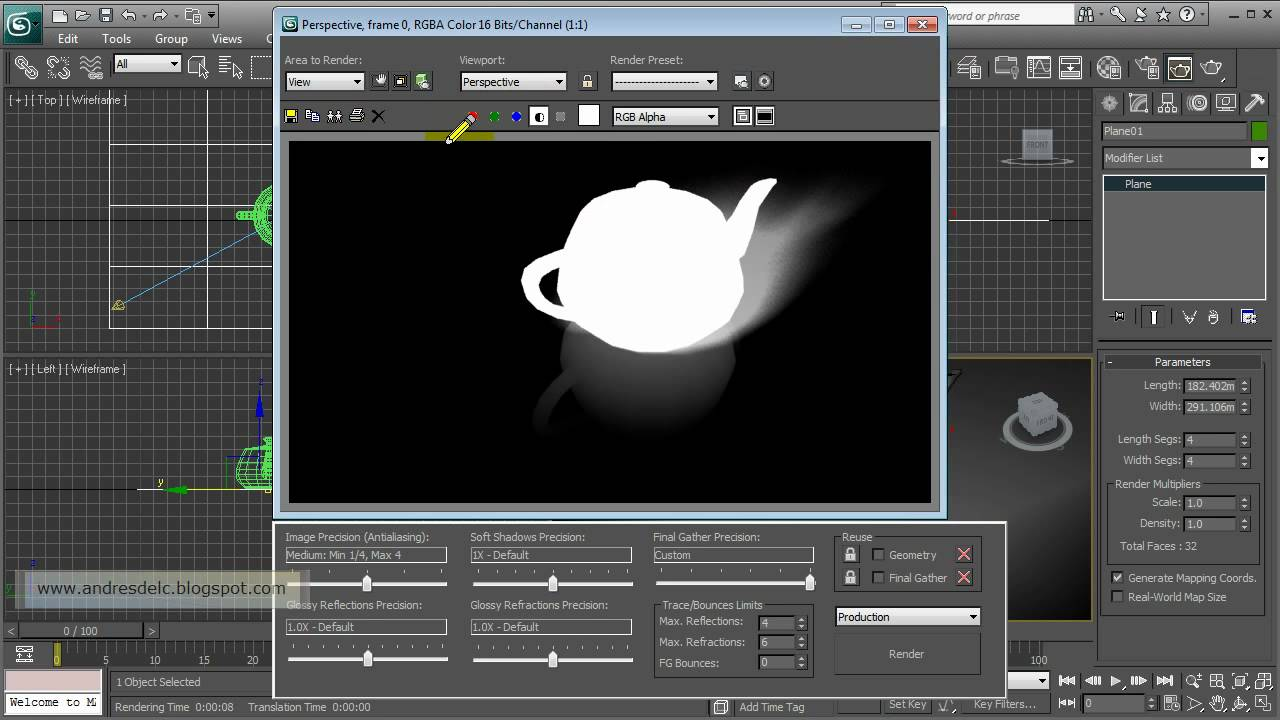3ds Max And Mental Ray Matte Shadow Reflection Hd