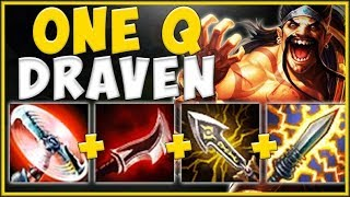 100% UNFAIR STRATEGY! BECOME RICH WITH ONE Q DRAVEN TOP! DRAVEN S9 TOP GAMEPLAY! - League of Legends