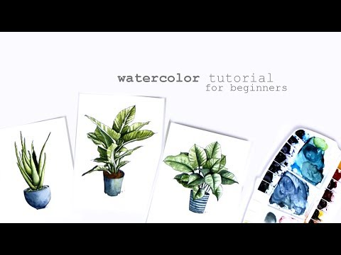 Watercolor Painting Techniques and Tutorial || How to Watercolor