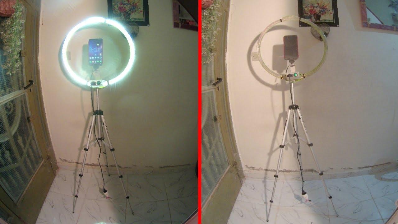 طريقة صنع مصباح ring light  بسهولة واحترافية (المصباح الدائري)