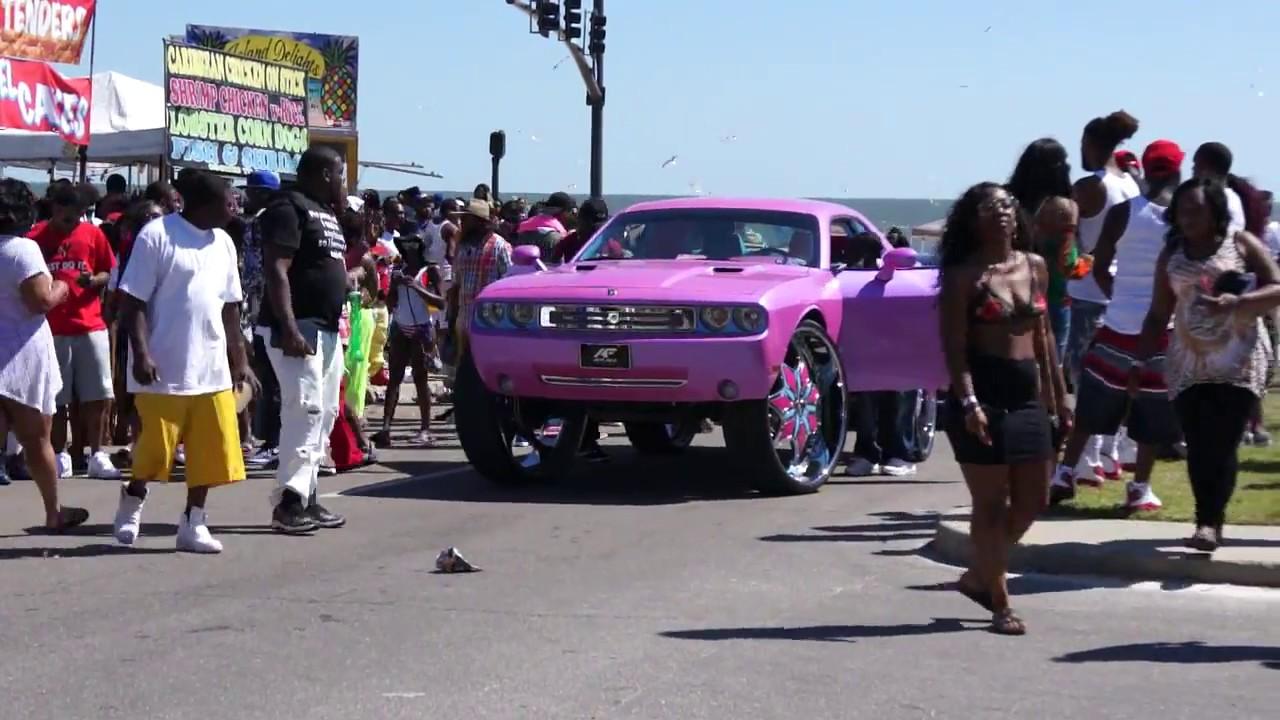 Biloxi Black Beach Weekend Dodge Challenger On 34 Amani Forged Wheels Part 4