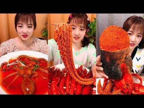 【大食い 】超激辛のタコと巨大カニ 、中華料理はユニクですね日本人なら出来ないな。。。!シーフドチャレンジ 、パート三十