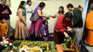 devotees doing abhishekam for Lord Shiva on Mahashivaratri at Shiridi Saibaba Temple in Pittsburgh