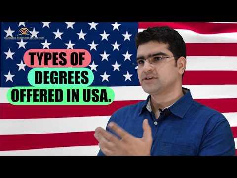 Types of Degrees in USA I  Gunjan Malhotra I Study Abroad - Sunshine Fortunes Education