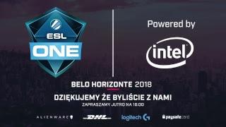 ESL One Belo Horizonte 2018 | Faza grupowa | Dzień 3 | NA ŻYWO!