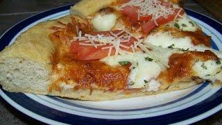 Pizza, Chicken, Sausage, Basil, Tomato, Alfredo Sauce, Pie