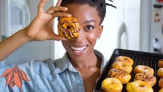 WHAT I EAT IN A DAY + Vegan Sweet Potato Donuts | Collab with FROM MY BOWL