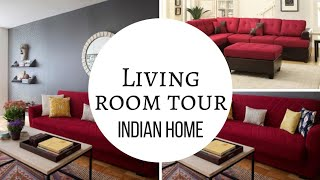 Living Room Tour | Indian Home Tour | हिंदी में | Indian Home Decor | Drawing Room Tour