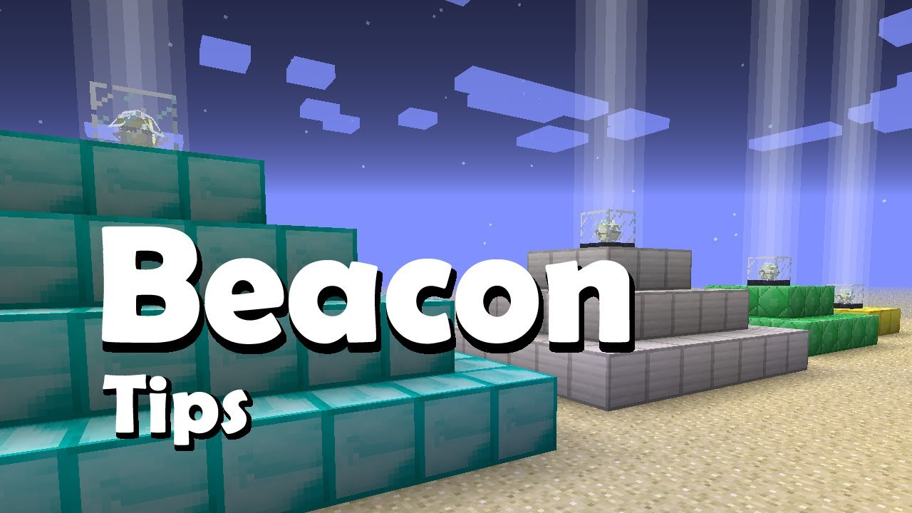 Minecraft Beacon How To Make And Use Beacons Youtube