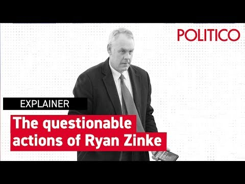 The questionable actions of Ryan Zinke