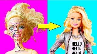 15 невероятно простых лайфхаков с куклами Барби ! / Видео