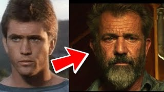 Mel Gibson from 10 to 61 years old