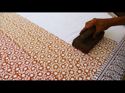 Block Printing of Fabrics. Jaipur, India