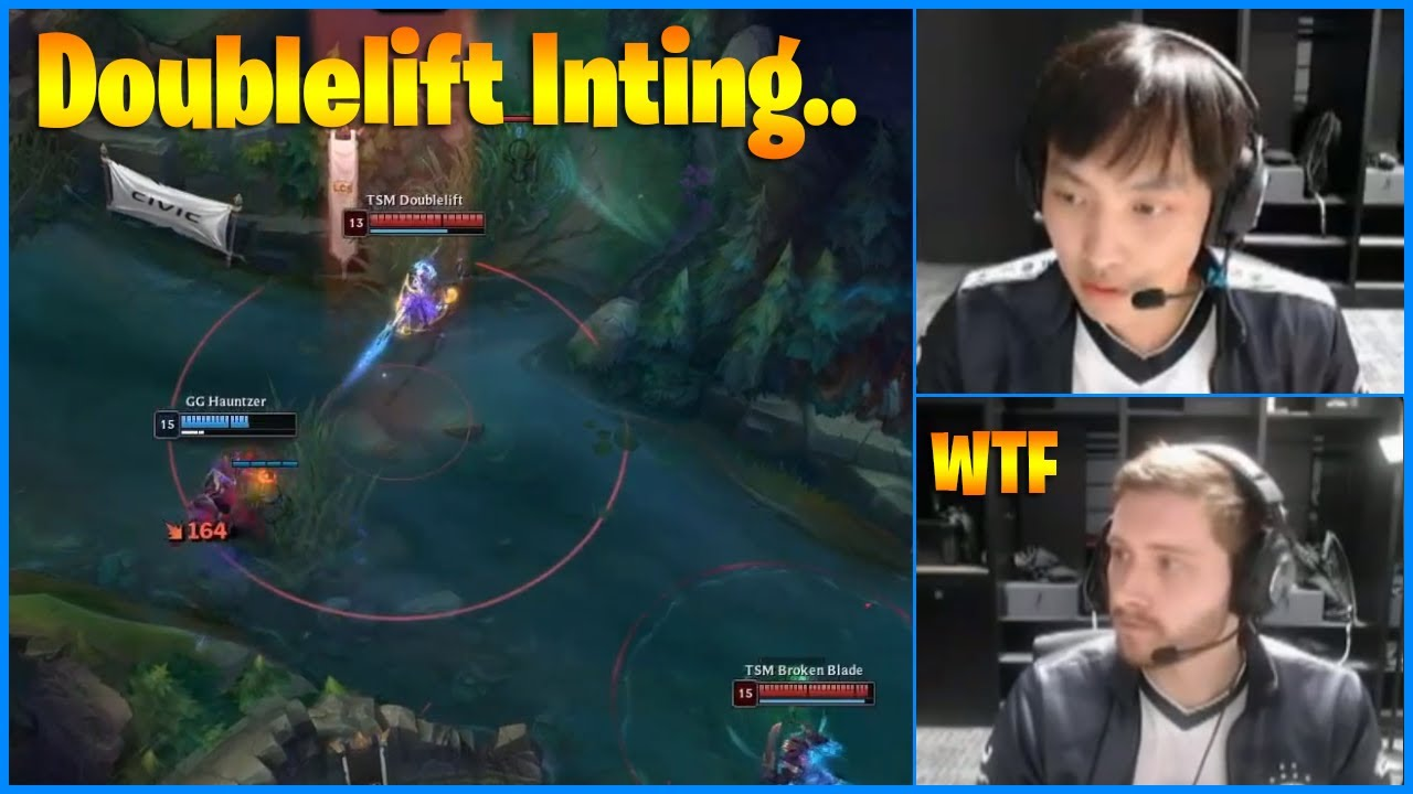 Bjergsen's Reaction to Doublelift Inting...LoL Daily Moments Ep 1096