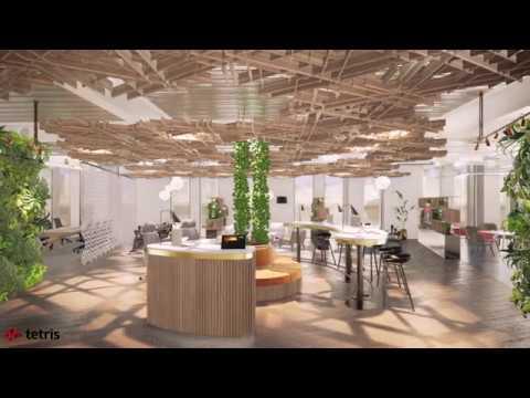 JLL North West office - CGI fly-through