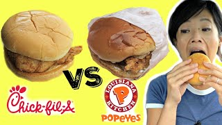 Chick-Fil-A vs. Popeyes - Battle CHICKEN SANDWICH | Emmymade Fast Food Taste Test