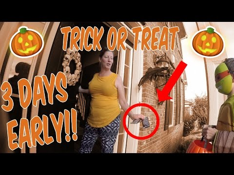 TRICK OR TREATING 3 DAYS EARLY!!! WE GOT CANDY!