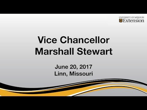 University of MIssouri Extension, Vice Chancellor Marshall Stewart