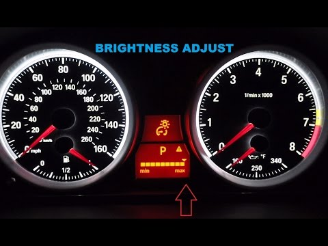 How To Adjust The Instrument Cluster Brightness On Your E90 or E92 BMW