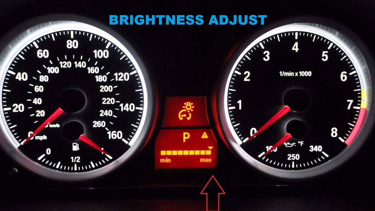 how to adjust the instrument cluster brightness on your e90 or e92 bmw [ 1280 x 720 Pixel ]
