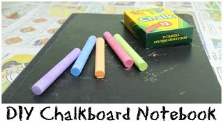 Diy Chalkboard Notebook