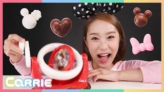 凱利的米奇米妮/米老鼠立體巧克力制作玩具遊戲 | 凱利和玩具朋友們  CarrieAndToys