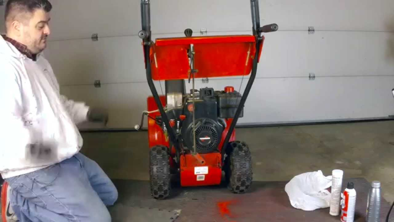 MTD Yard Machine snow blower maintenance & oil change