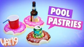 Donut-Shaped Floating Drink Holders