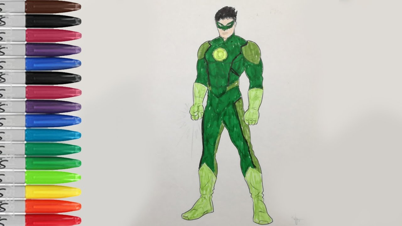 Green Lantern Coloring Pages Green Lantern Hero Fun Pages SAILANY