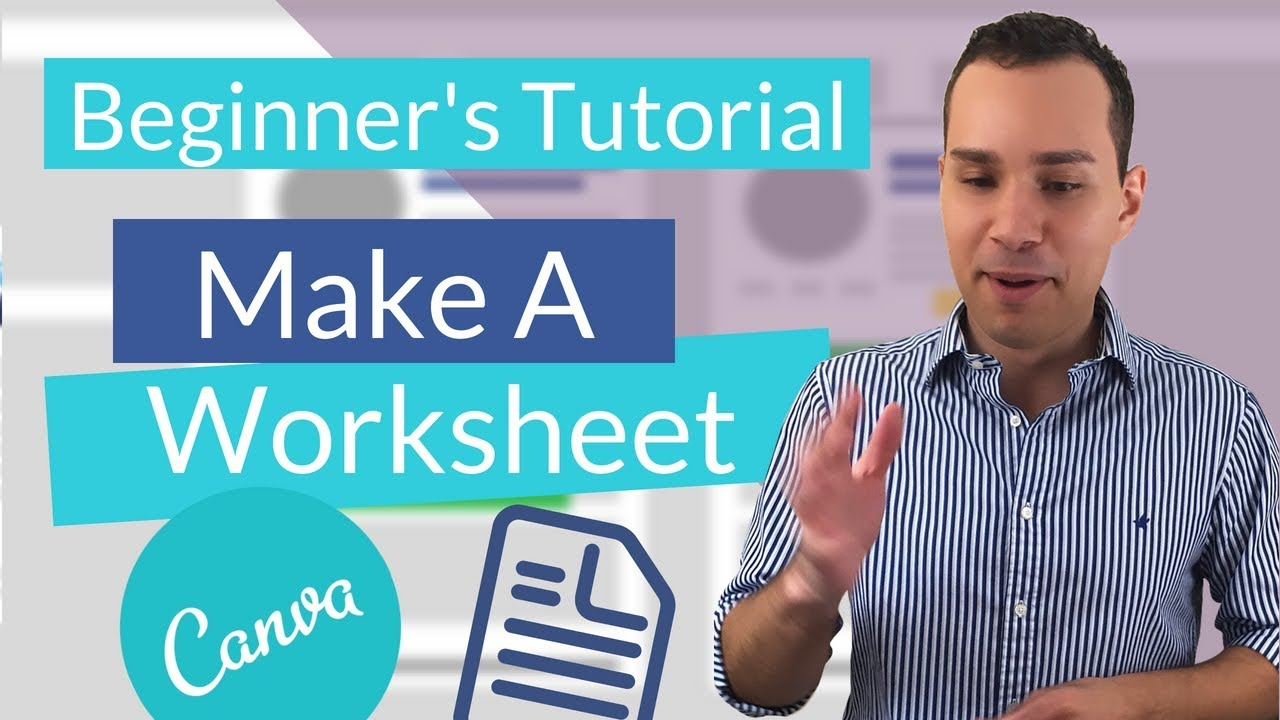 Create Worksheet in Canva For Your Online Course And Lead Magnets (PDF) - YouTube