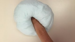 DIY Fluffy Slime without Shaving Cream!?! //No borax, liquid starch, detergent