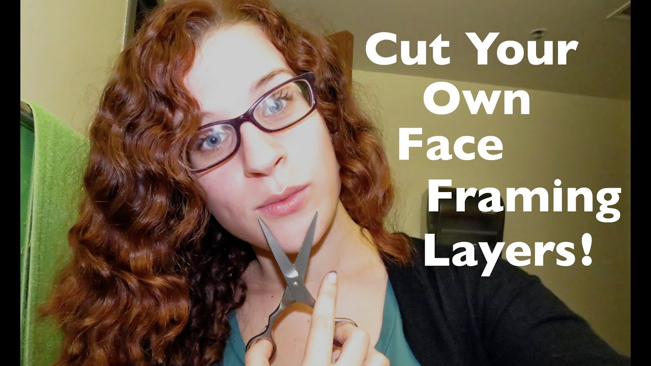 Cutting curly side bangs face framing layers yourself youtube solutioingenieria Images