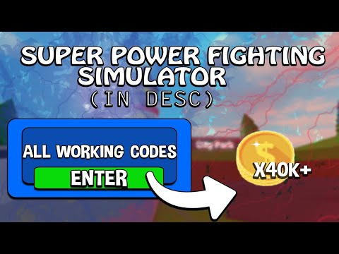 Codes | 🐉 Super Power Fighting Simulator | In Desc | 40K+ Tokens from YouTube · Duration:  2 minutes 39 seconds
