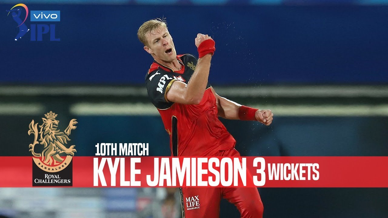 Kyle Jamieson's 3 Wickets Against Kolkata Knight Riders   10th Match   Indian Premier League 2021