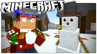 Minecraft | Building Frosty The Snowman! | Frosty Custom Map With Voice Acting