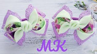 Весенние бантики из лент♥Канзаши♥ribbon Bows
