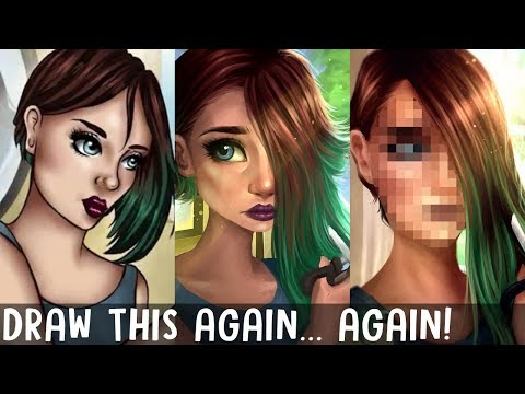 DRAW THIS AGAIN..AGAIN!! | & Tips to Improve your Art! | Jenna Drawing