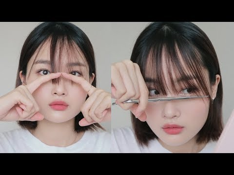 (eng/jpn/vnm/rus) Cutting My Own Bangs 앞머리 자르기 - YouTube
