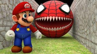 Red Spider Pacman vs Super Mario