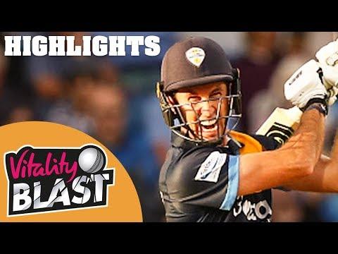 Northamptonshire v Derbyshire | Madsen Hits 28-Ball 50! | Vitality Blast 2019 - Highlights