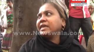 Wife of Rowdy Sheeter Fiyaz briefing the media at Osmania general hospital