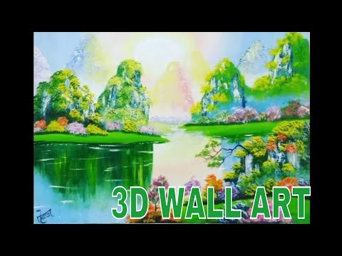 3D PAINTING ON CANVAS USING ACRYLIC PAINTING TECHNIQUES