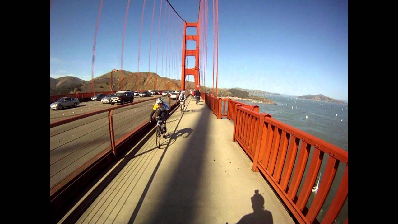 Golden Gate Bridge Bike Ride Feb 2012 Youtube