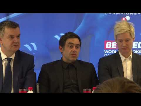 LIVE | Betfred World Snooker Press Conference
