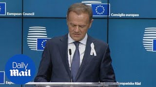 Donald Tusk discusses privacy in wake of Facebook revelations - Daily Mail