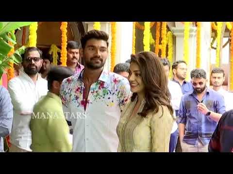 Bellamkonda Sreenivas and Kajal New Movie Opening Video | Manastars