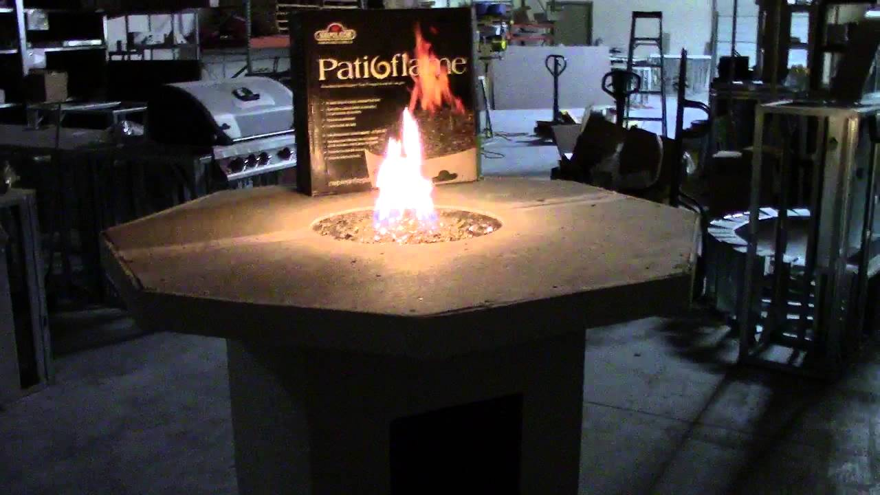 Octagon Fire Pit Table YouTube - Octagon propane fire pit table