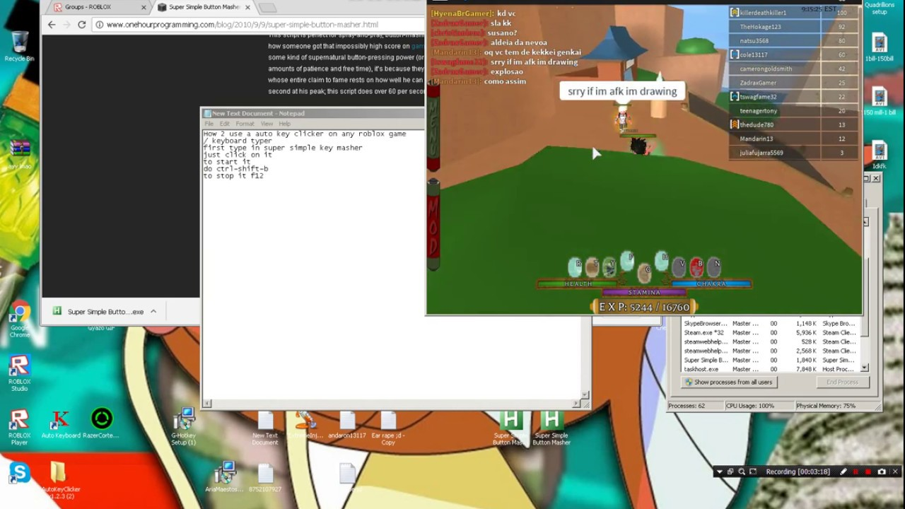 Auto Key Clicker For Roblox And Other Games Roblox Youtube